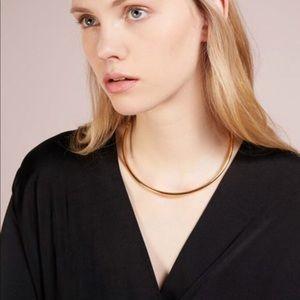 J Crew Simple Gold Collar Necklace